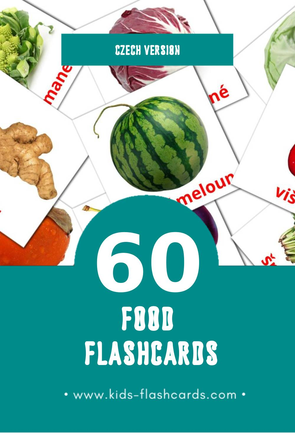 Visual Ягоды Flashcards for Toddlers (60 cards in Czech)