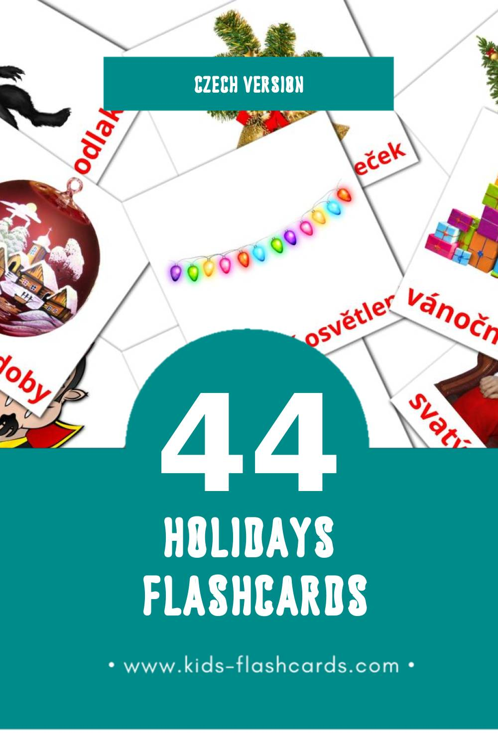 Visual svátky Flashcards for Toddlers (44 cards in Czech)