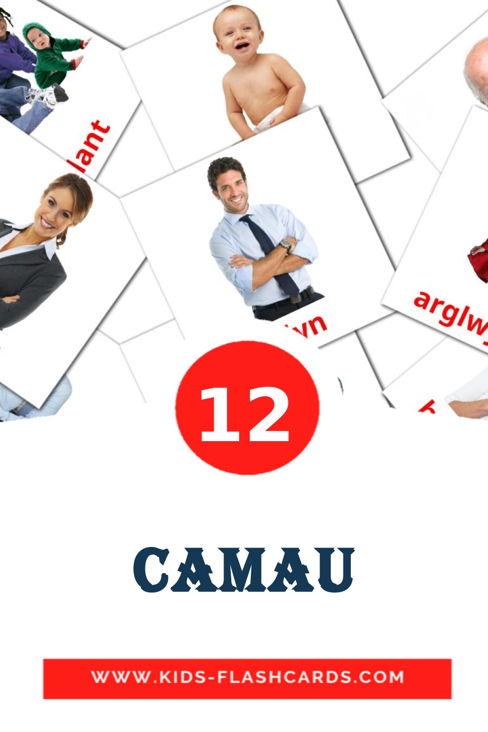 12 Camau Picture Cards for Kindergarden in welsh