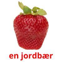 en jordbær picture flashcards