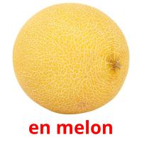 en melon picture flashcards