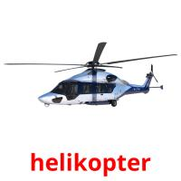 helikopter picture flashcards
