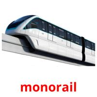 monorail picture flashcards