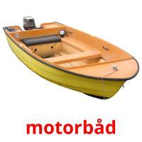 motorbåd picture flashcards