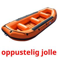 oppustelig jolle picture flashcards