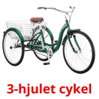 3-hjulet cykel picture flashcards