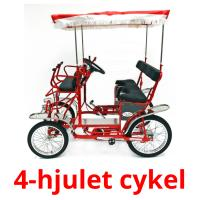 4-hjulet cykel picture flashcards