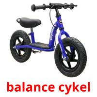 balance cykel picture flashcards