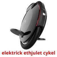 elektrick ethjulet cykel picture flashcards