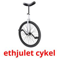 ethjulet cykel picture flashcards