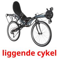 liggende cykel picture flashcards