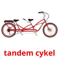 tandem cykel picture flashcards