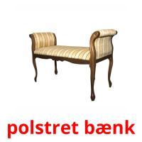 polstret bænk picture flashcards