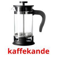 kaffekande picture flashcards
