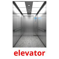 elevator picture flashcards