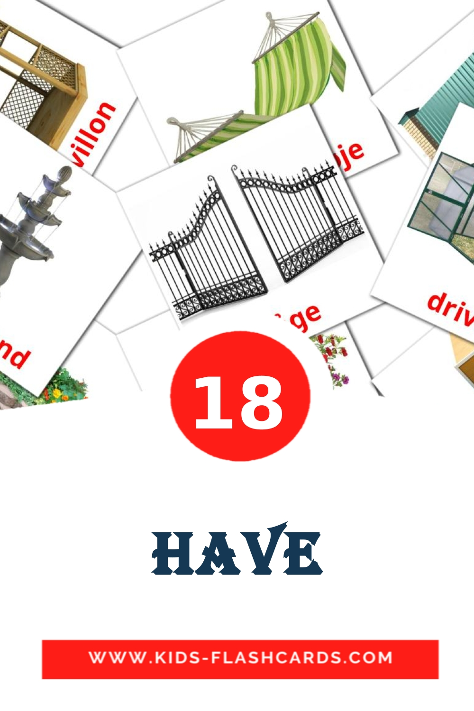 18 Have Picture Cards for Kindergarden in dansk