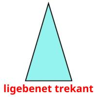 ligebenet trekant picture flashcards