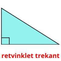 retvinklet trekant picture flashcards