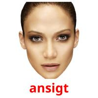 ansigt picture flashcards