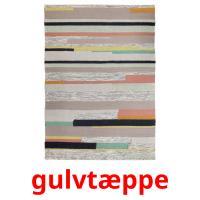 gulvtæppe picture flashcards