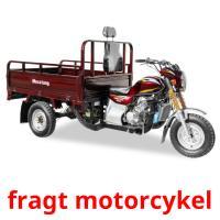 fragt motorcykel picture flashcards