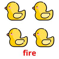 fire picture flashcards