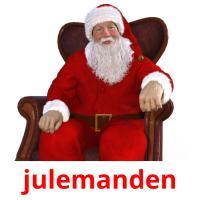 julemanden picture flashcards