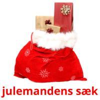 julemandens sæk picture flashcards