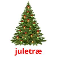 juletræ picture flashcards