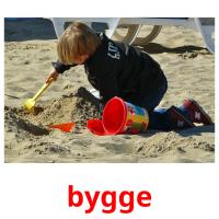 bygge picture flashcards