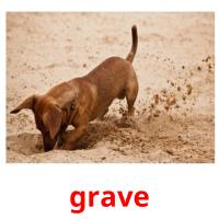 grave picture flashcards
