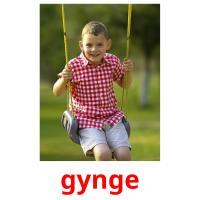 gynge picture flashcards