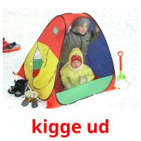 kigge ud picture flashcards