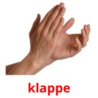 klappe picture flashcards