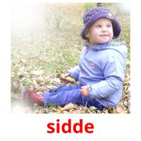 sidde picture flashcards