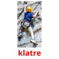 klatre picture flashcards