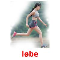 løbe picture flashcards