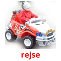 rejse picture flashcards