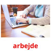 arbejde picture flashcards