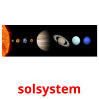 solsystem picture flashcards