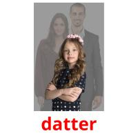 datter picture flashcards
