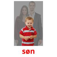 søn picture flashcards