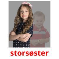 storsøster picture flashcards