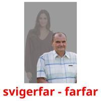 svigerfar - farfar picture flashcards