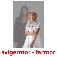svigermor - farmor picture flashcards
