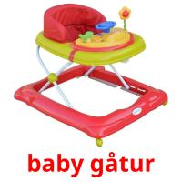 baby gåtur picture flashcards