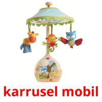 karrusel mobil picture flashcards