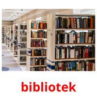 bibliotek picture flashcards