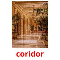 coridor picture flashcards