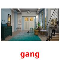 gang picture flashcards